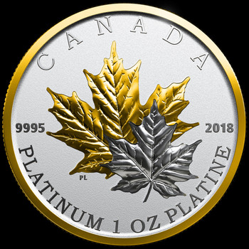 2018 $300 PURE PLATINUM COIN MAPLE LEAF FOREVER