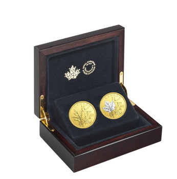 2018 $200 PURE GOLD 2-COIN SET ENCHANTING MAPLE LEAVES