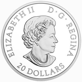 2018 $20 FINE SILVER COIN QUEEN ELIZABETH II's MAPLE LEAVES BROOCH