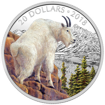 2018 $20 FINE SILVER COIN MAJESTIC WILDLIFE: METTLESOME MOUNTAIN GOAT