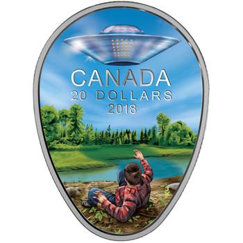 2018 $20 FINE SILVER COIN CANADA'S UNEXPLAINED PHENOMENA: THE FALCON LAKE INCIDENT
