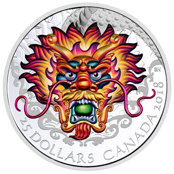 2018 $25 FINE SILVER COIN DRAGON BOAT