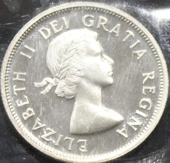 1955 CANADIAN 25-CENT ICCS PL-66 (CAMEO)