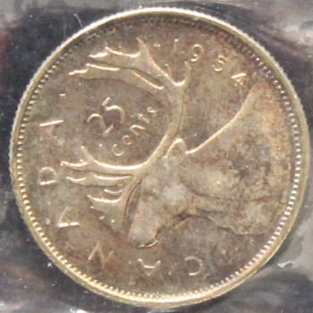1954 CANADIAN 25-CENT ICCS MS-64