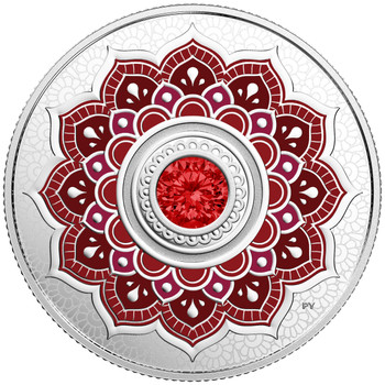 2018 $5 FINE SILVER COIN BIRTHSTONES: JULY