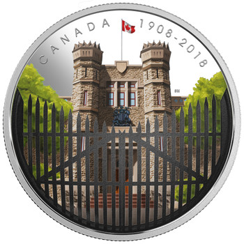 2018 $30 FINE SILVER COIN 110TH ANNIVERSARY OF THE ROYAL CANADIAN MINT