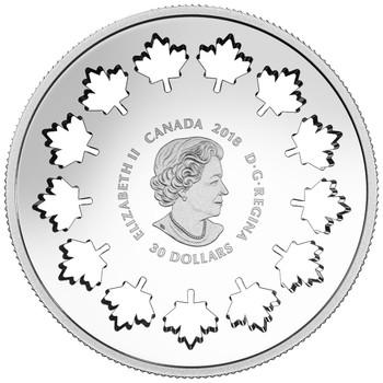 2018 $30 FINE SILVER COIN EVOLVING A NATION