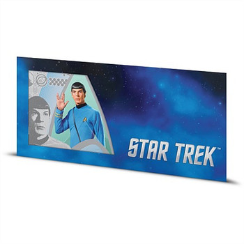 STAR TREK: THE ORIGINAL SERIES - 5 GRAM FINE SILVER NOTE - SPOCK