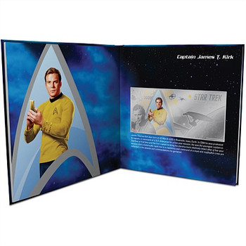 STAR TREK 7-FOIL SET - PURE SILVER 5 GRAM NOTES - NEW ZEALAND MINT