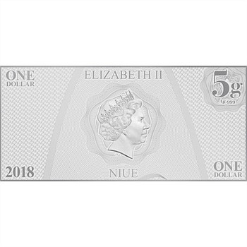 STAR TREK: THE ORIGINAL SERIES - 5 GRAM FINE SILVER NOTE - UHURA