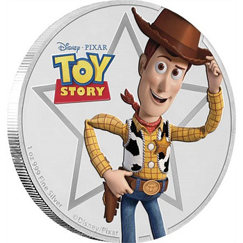 TOY STORY - 1 OZ FINE SILVER COIN - WOODY