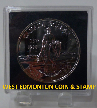 1998 BRILLIANT UNCIRCULATED SILVER DOLLAR - 125TH ANNIVERSARY OF THE RCMP
