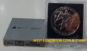 1993 BRILLIANT UNCIRCULATED SILVER DOLLAR - 100TH ANNIVERSARY OF THE STANLEY CUP
