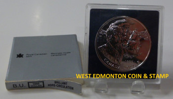 1995 BRILLIANT UNCIRCULATED SILVER DOLLAR - 325TH ANNIVERSARY OF THE HUDSON'S BAY COMPANY