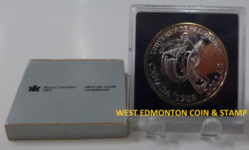 1983 BRILLIANT UNCIRCULATED SILVER DOLLAR - WORLD UNIVERSITY GAMES HELD IN EDMONTON