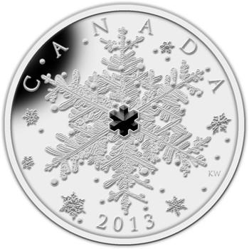 2013 $20 FINE SILVER COIN - WINTER SNOWFLAKE - QUANTITY SOLD: 4166