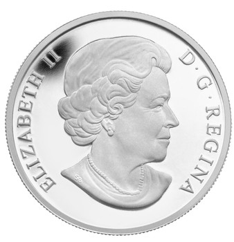 2013 $10 FINE SILVER COIN - O CANADA SERIES - MAPLE LEAF