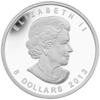 2013 $8 FINE SILVER COIN - POLAR BEAR