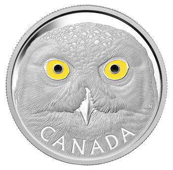2014 $250 FINE SILVER COIN IN THE EYES OF THE SNOWY OWL