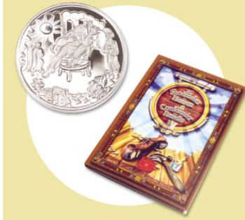 2002 50-CENT STERLING SILVER COIN - THE SHOEMAKER IN HEAVEN