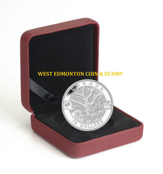 2014 $10 FINE SILVER COIN O CANADA - DOWN BY THE OLD MAPLE TREE