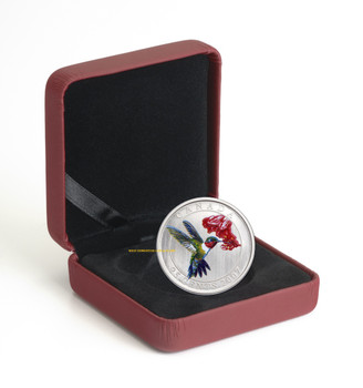 2007 25 CENT COIN - RUBY-THROATED HUMMINGBIRD (FIRST IN SERIES)