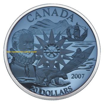 2007 $20 STERLING SILVER PLASMA COIN - INTERNATIONAL POLAR YEAR - QUANTITY SOLD: 3,005