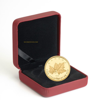 2009 1/25 OZ GOLD COIN - RED MAPLE