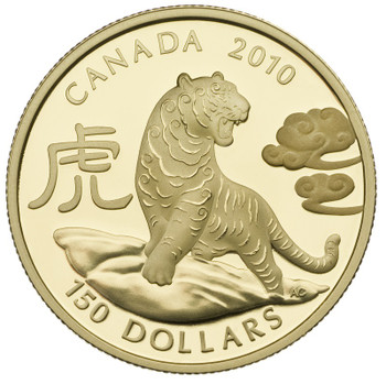 2010 $150 GOLD COIN - YEAR OF THE TIGER
