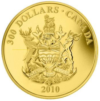 2010 $300 GOLD COIN - BRITISH COLUMBIA COAT OF ARMS