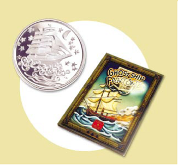 2002 - 50 CENT STERLING SILVER COIN - THE GHOST SHIP