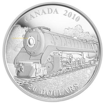 2010 $20 FINE SILVER COIN - GREAT CANADIAN LOCOMOTIVES SERIES: SELKIRK