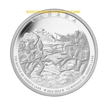 2014 $250 FINE SILVER 1-KILO COIN - BATTLE OF LUNDY'S LANE
