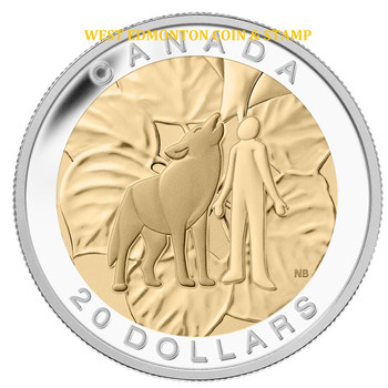 2014 $20 FINE SILVER COIN THE SEVEN SACRED TEACHINGS: HUMILITY