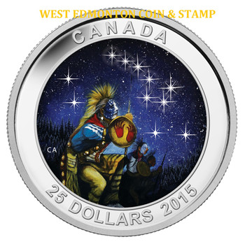 2015 $25 FINE SILVER GLOW IN THE DARK COIN STAR CHARTS: THE QUEST