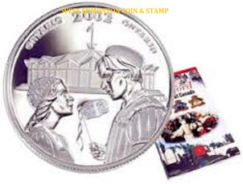 2002 50 CENT STERLING SILVER COIN - FESTIVALS OF CANADA - STRATFORD FESTIVAL