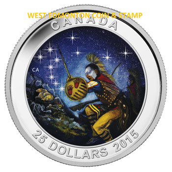 2015 $25 FINE SILVER COIN STAR CHARTS: THE WOUNDED BEAR