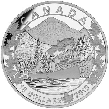 2015 $10 FINE SILVER COIN CANOE ACROSS CANADA: MAGNIFICENT MOUNTAINS