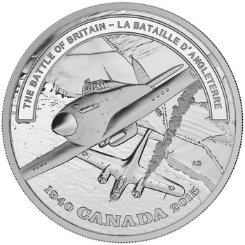 2015 $20 FINE SILVER COIN - SECOND WORLD WAR: BATTLEFRONT SERIES - THE BATTLE OF BRITAIN
