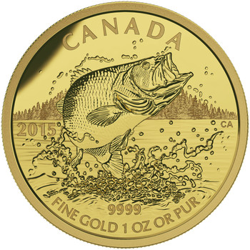 2015 $200 PURE GOLD COIN - NORTH AMERICAN SPORTFISH: LARGEMOUTH BASS