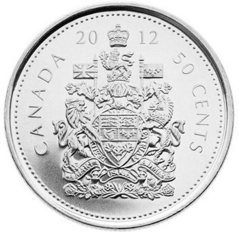 2012 CIRCULATION COIN ROLL - 50 CENT