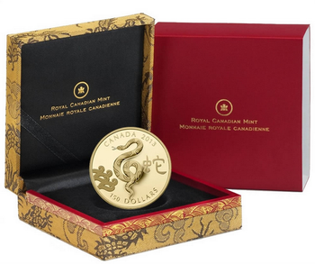 2013 $150 GOLD COIN - LUNAR YEAR OF THE SNAKE