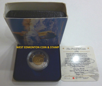 1996 PROOF $2 - COIN & BOX - CERTIFICATE