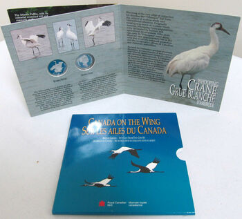 1995 50-CENT 4-COIN CANADIAN BIRD SET - PUFFIN - CRANE- GRAY JAY - PTARMIGAN