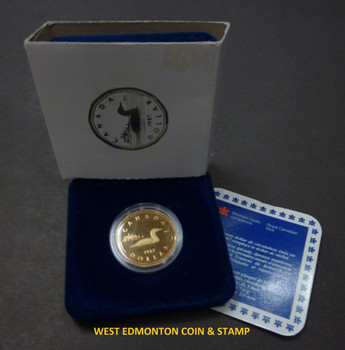 1987 PROOF LOONIE - COMMEMORATES THE FIRST CANDIAN DOLLAR