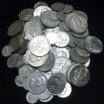 UNITED STATES JUNK SILVER - 100-DOLLARS FACE VALUE