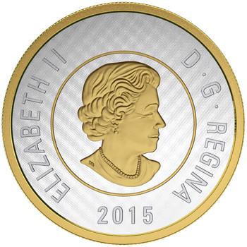 2015 5-OUNCE FINE SILVER COIN  BIG COIN SERIES: $2 COIN