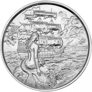 2OZ. PRIVATEER ULTRA HIGH RELIEF - .999 FINE SILVER ROUND