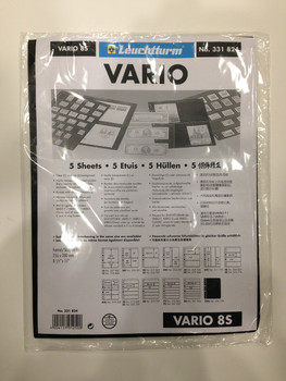 VARIO BLACK STAMP STOCKPAGES - FIVE SHEETS - EIGHT STRIPS