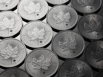 100 1OZ. 2015 CANADIAN MAPLE LEAF SILVER COIN (.9999 PURE BULLION)